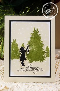 Dawn Woleslagle for Wplus9 featuring Iconic Christmas stamps and dies.