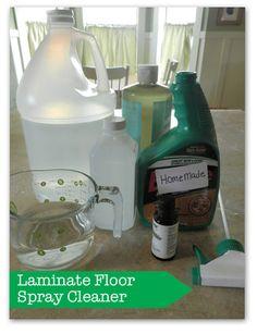 Homemade Laminate Floor Spray Cleaner