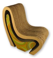 Exposed cardboard gives great texture and dimension to this chair made from recycled cardboard. Design by Argentinian designer Ana Motrano.
