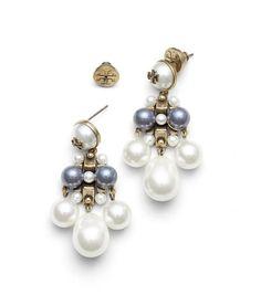 Tory Burch Marlow Pearl Link Earring