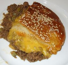 Cheeseburger Casserole - this tastes EXACTLY like a McDonald's cheeseburger! I'm serious! And it's so easy |Pinned from PinTo for iPad|