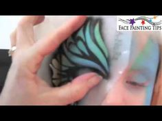 BUTTERFLY FACE PAINT TUTORIAL STENCIL EYES
