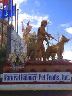 Great side view of the Natural Balance Rose Parade float