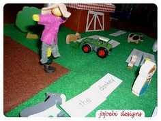 DIY Montessori Grammar Farm. How to instructions as well as ideas on how to present this to your child. There are a number of levels, so this will be something that will grow with your child.