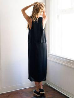 Georgette storm flap tank dress