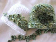 How to make a crochet shamrock garland and my new hat pattern!
