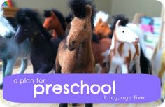 A plan for Preschool:  Lucy's age five year