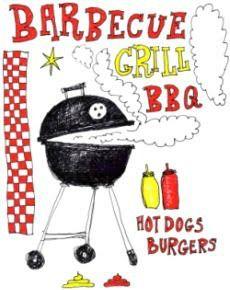 parti recip, school, deep south dish, barbecu, grillin, summer cookout, parti food, bodi graphic, food menu