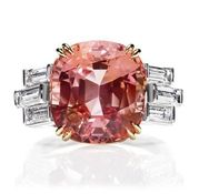 An absolute PERFECT color for my favorite gemstone: Padparadscha!  Sunset by Harry Winston.