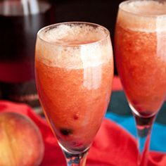 Frozen Peach Bellini on Pinterest | Peach Bellini, Peach Bellini ...
