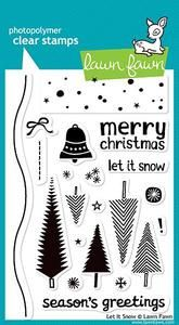 Lawn Fawn Clear Stamps, Let it Snow
