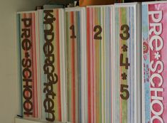 Ideas for organizing kids artwork and school papers.