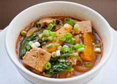 SPICE ISLAND VEGAN: Vegan Korean Mushrooms and Tofu Stew #vegan #stew #recipe