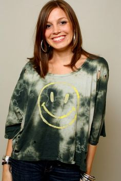 Smiley Face Tee, Chaser, Have a Good Day in the Chaser LA Smiley Face Tee!