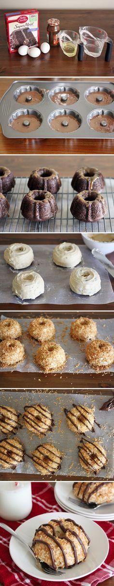 Mini Samoa Bundt Cakes