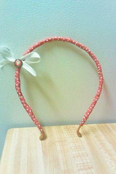 Cover an hold headband in ribbon