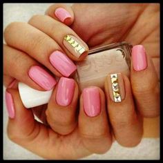 Some gold hardware for your nails