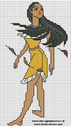 POCAHONTAS CROSS STITCH - PUNTO CROCE by syra1974.deviantart.com on @deviantART
