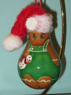 ginger bread girl lightbulb - Penryk Hand painted Crafts and Collectables