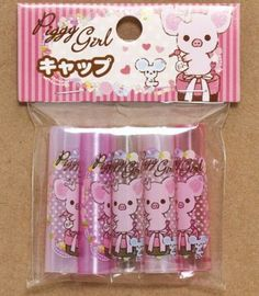 Piggy Girl pencil caps