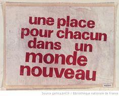 [Mai 1968]. Une place pour chacun dans un monde nouveau : [affiche]