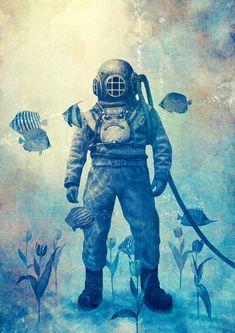 """""""Deep Sea Garden"""" Art Print by Terry Fan on Society6."""