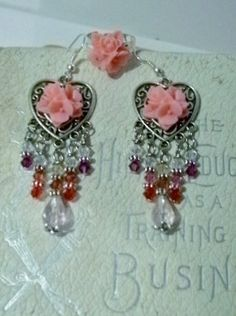 Cabachons & Crystals Dangle Earrings And Matching by mamabecca73, $14.95
