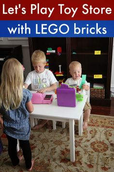 Pretend Play Toy Store with LEGO Bricks