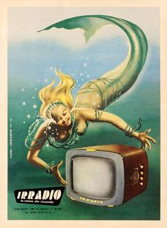 This vintage advertising reminds me of Glynis Johns in The Mermaid movie....