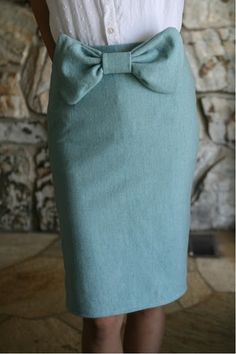 vintage bowtie skirt DIY