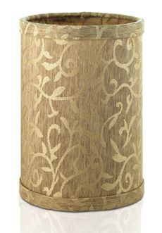 Fabric Shade, Gold Scroll Pattern $18