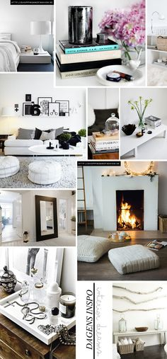 Collage. By - http://shoppingandfashion.se/    I love the giant mirror