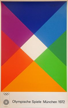Edition Olympia poster for the Munich 1972 Olympic Games: by max bill