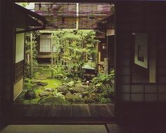 "outdoor shoji | Outdoor"" halls and a center courtyard. The tatami and shoji are ..."