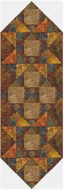 Hearth Stone Table Runner - Made w Moda, Breezy Batiks Fabric