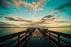 heaven, dream, sunset, blue skies, path
