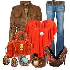 Brown w/Orange