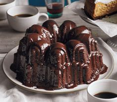 Glazed Triple-Chocolate Pound Cake | Get the recipe http://www.realsimple.com/food-recipes/browse-all-recipes/glazed-triple-chocolate-pound-cake-00100000089158/index.html