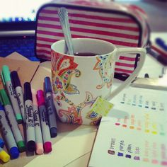 Green tea and crafts