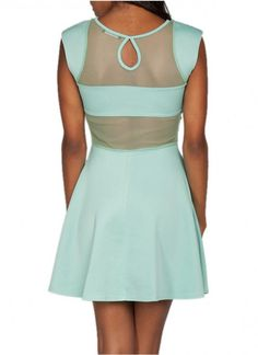 Green Cocktail Dress - SEXY SHEER BACK COCKTAIL DRESS | UsTrendy