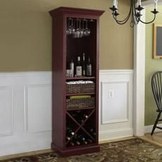 Just in time for your holiday party, we show you how to build a slender cocktail hutch with a handy and attractive place to hang glasses, store wine bottles, tuck bottle openers and napkins, and display spirits. | Photo: Ryan Benyi | thisoldhouse.com