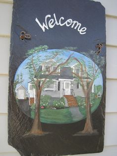 Custom Order Home Welcome Signs. $70.00, via Etsy.