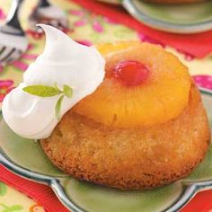 Pineapple Upside Down Cupcakes