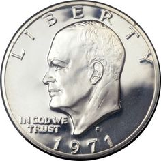Proof Eisenhower Dollars, 1971-S $1 Silver