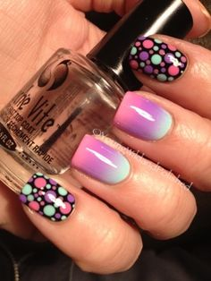 Cute design. Like the black with the different coloured dots.