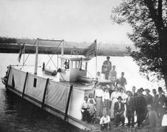 The Speillei at a landing on Lake River near Ridgefield. Captain is Art Moe.