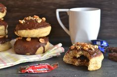 How Delicious are these Baked Molasses Doughnuts with Peanut Chews Filling from Kitchen Tested! #chosencandy