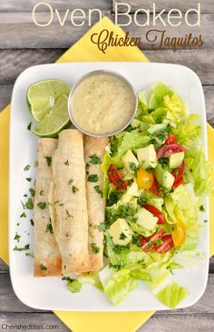 Oven Baked Chicken Taquito Recipe #food #recipes #meals #dinner #lunch #yum #tasty #delicious www.gmichaelsalon.com