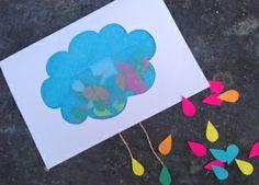 Wednesdays with Handmade Charlotte: DIY Piñata Cards |clouds + (happy) rain drops!