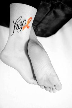 This is a picture of my daughters leg....she got the tattoo in honor of me for MS Awareness  I love her so much!!